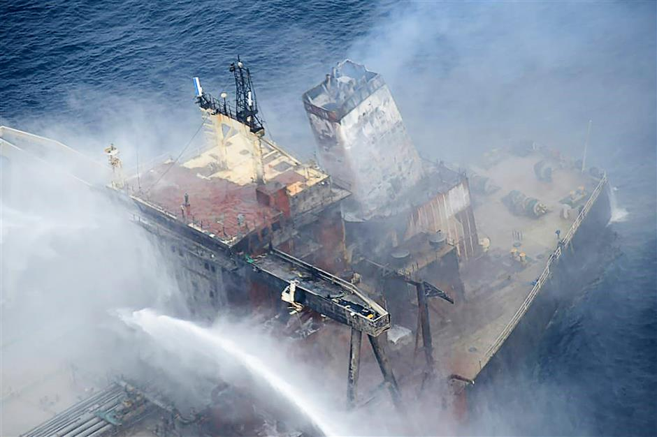 New threat as Sri Lanka oil tanker fire reignites