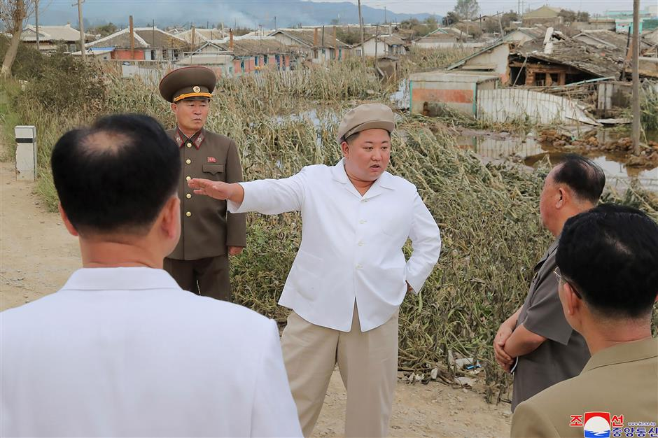 DPRK top leader calls for efforts to recover from typhoons