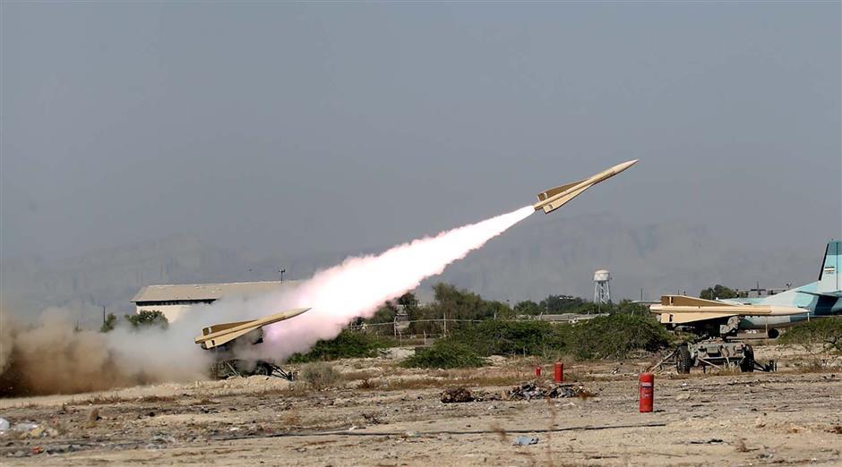 Iran stages war games near strategic Gulf strait