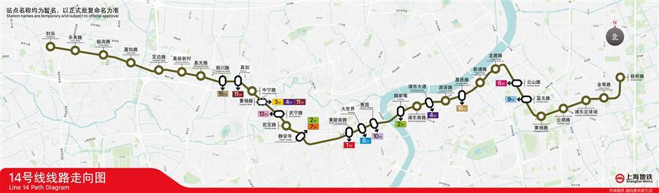 Pudong part of Metro Line 14 dug through