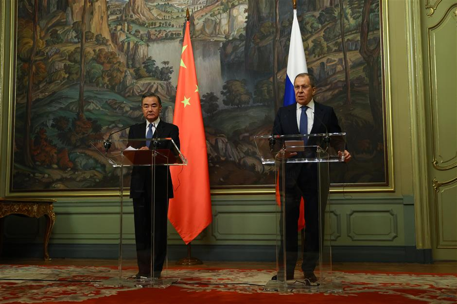Chinese, Russian FMs agree to further bilateral cooperation in various areas