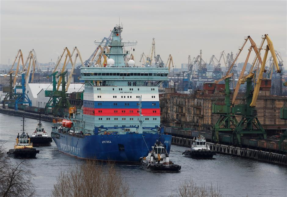 Powerful icebreaker for Northern Sea Route