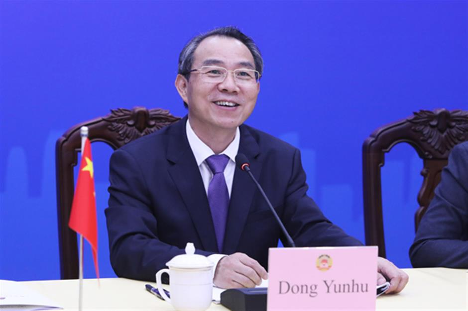 Top CPPCC Shanghai official holds video conference with Milan dignitary