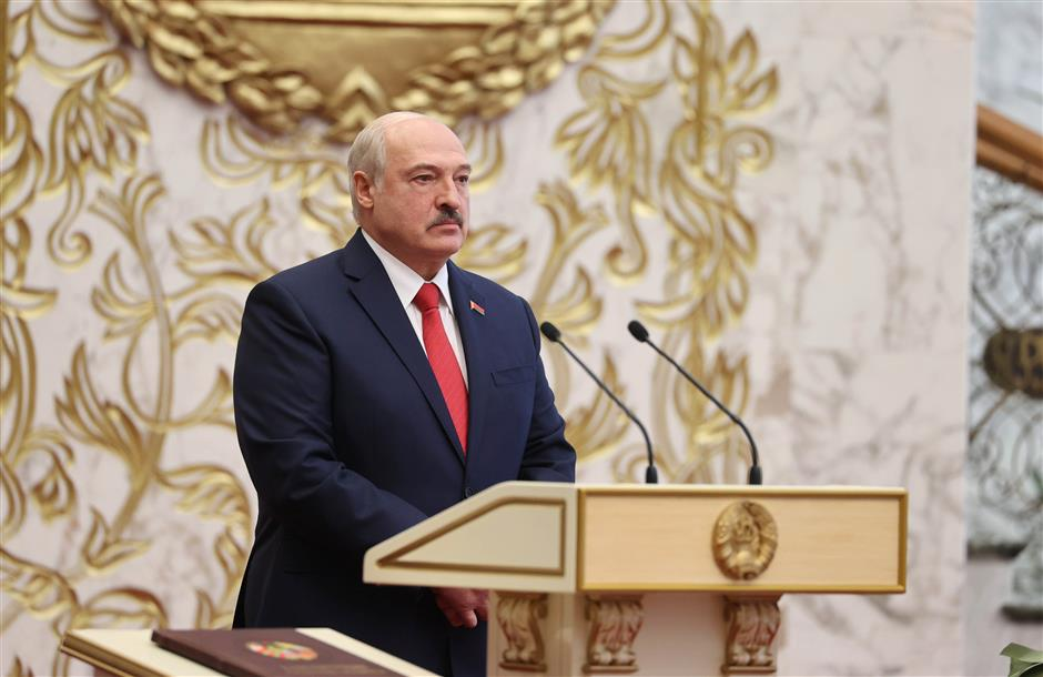 Lukashenko sworn in for his 6th term as president of Belarus