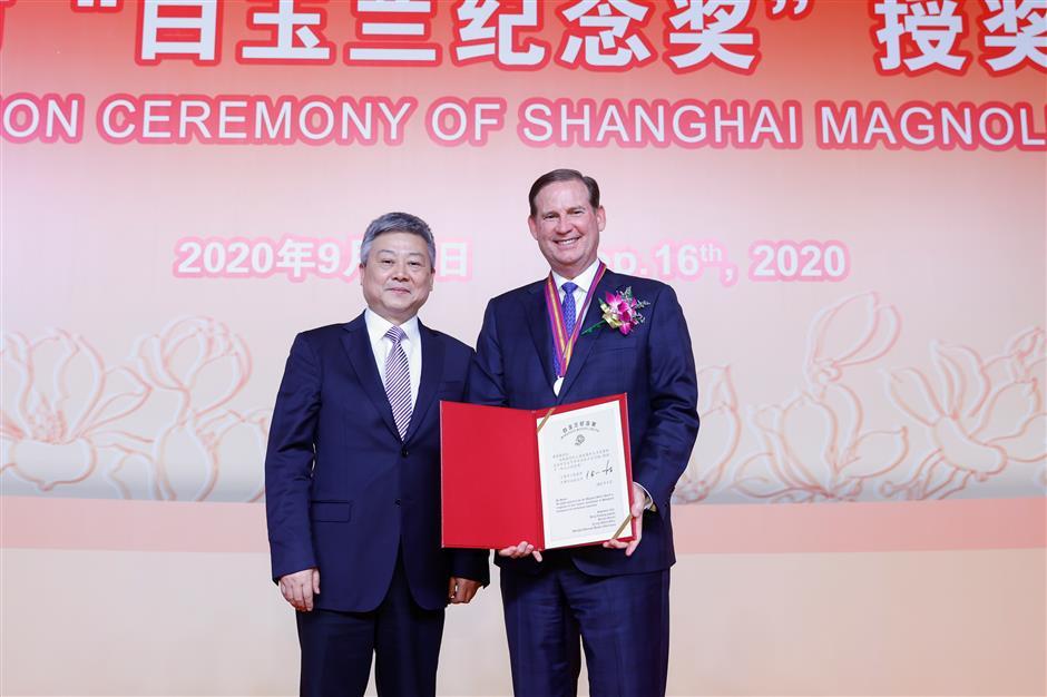 City honor for Shanghai Disney Resort boss