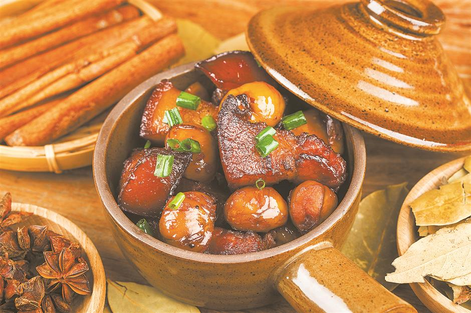 Add some weight with pork belly