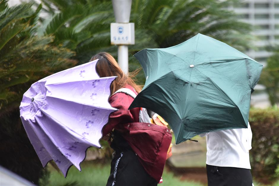 Services affected as typhoon  hits Hainan