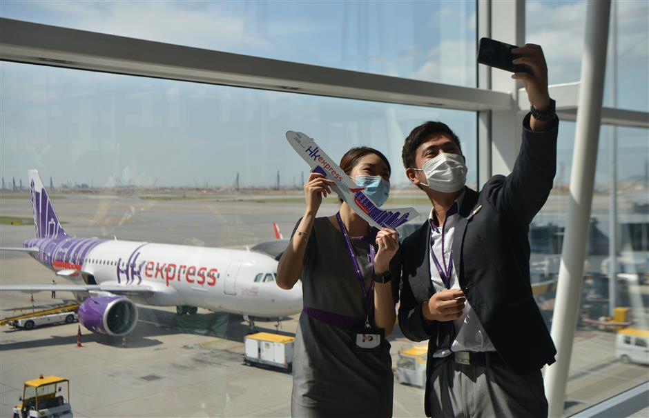 On a flight to nowhere! HK airline fighting back