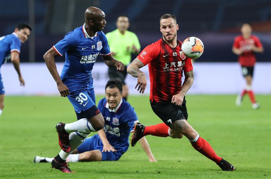 Shenhua, SIPG share goalless draw in CSL playoffs