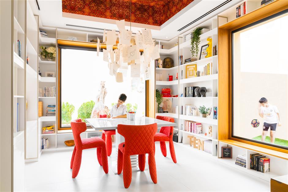 A colorful, playful Dubai dwelling full of personality, charm