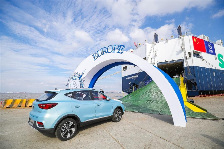 Chinese new-energy vehicles head to Europe