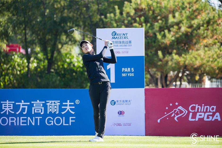 Zhang, Liu share three-shot lead in Beijing