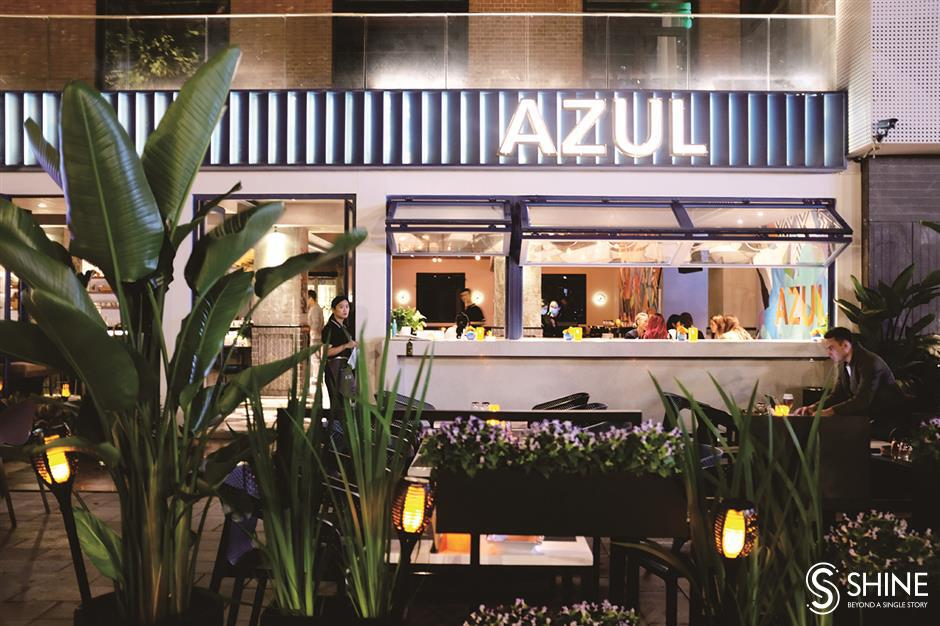 Azuls chic Latino style fused with taste of the Med