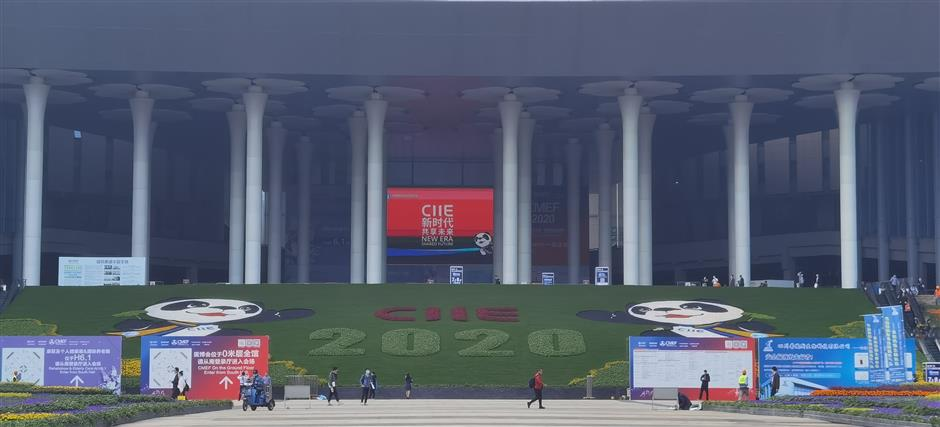 Shanghai gets spruced up ahead of import expo