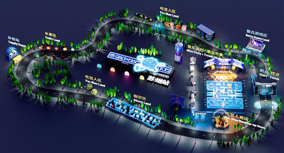 Night run based on arcade classic Pac-Man