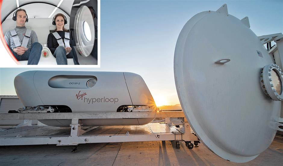 Virgins Hyperloop carries passengers for the first time