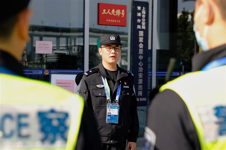 Police ensure smooth CIIE pandemic control