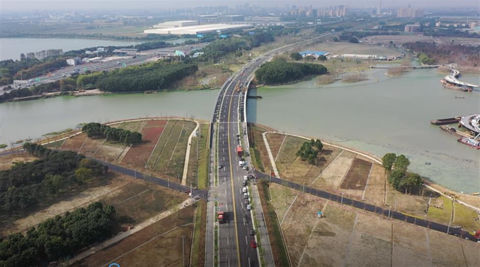 Road project shortens distance between Qingpu and Suzhou