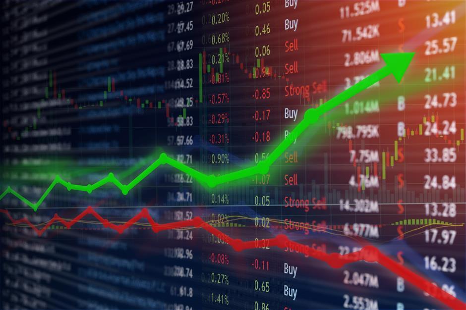 Technology firms shares depress the market