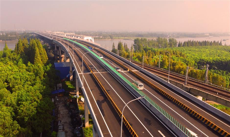 Bridges across the Huangpu River record stories of human endeavor