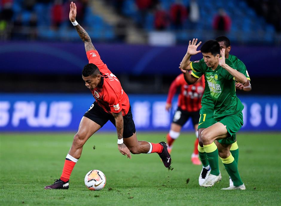 Draw sees Guoan pip SIPG to third place in CSL