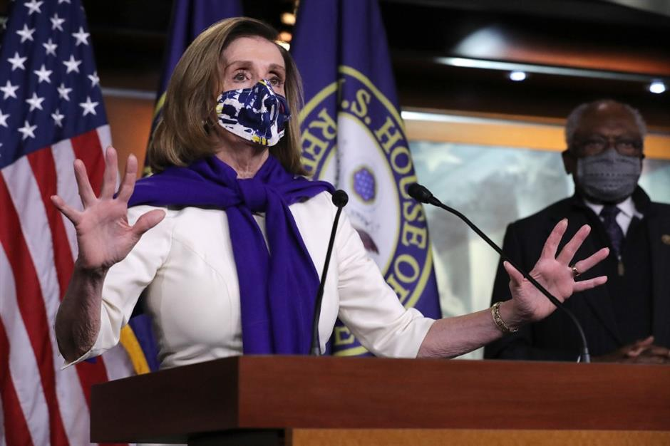 Pelosi wins bid to lead Democrats in US House