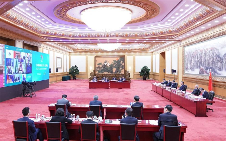 Xi proposes pandemic firewall, free trade for world economic recovery