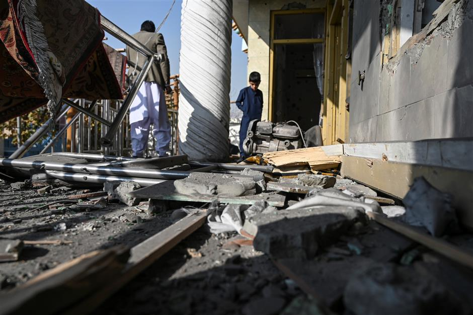 8 killed in Kabul by rocket attack ahead of talks