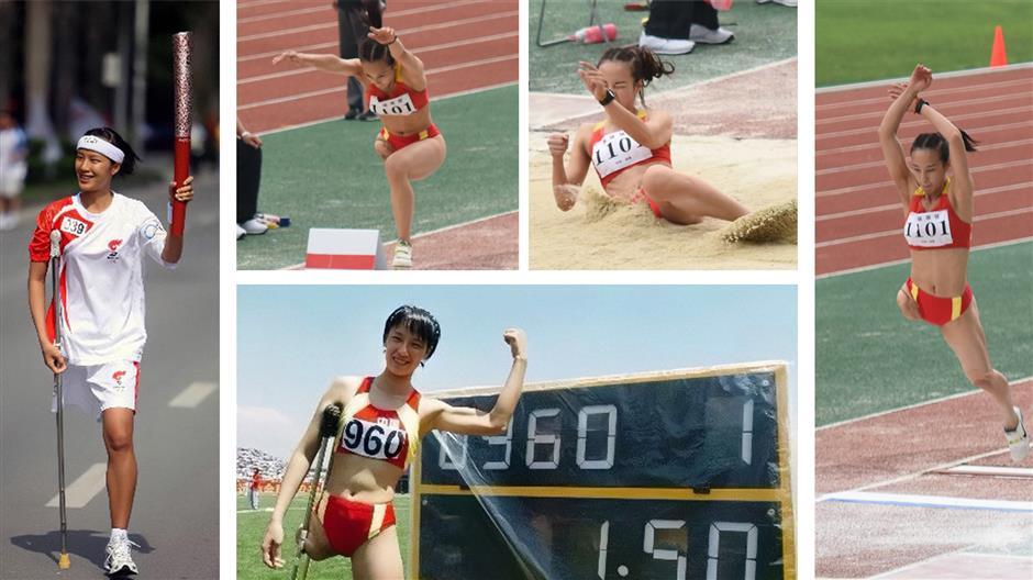 Chinas one-legged female athlete shines in beauty contest