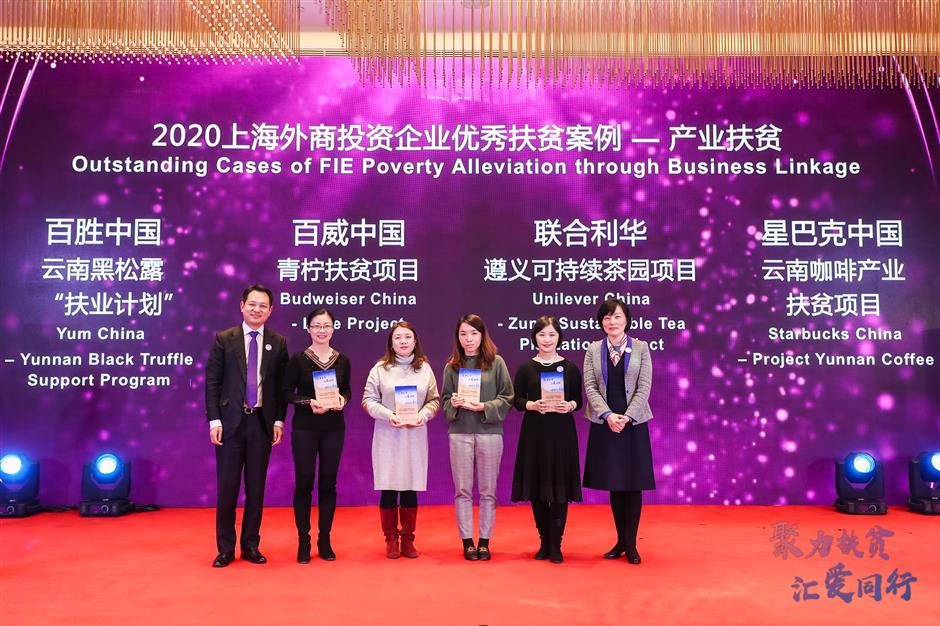 Foreign firms honored for poverty alleviation efforts