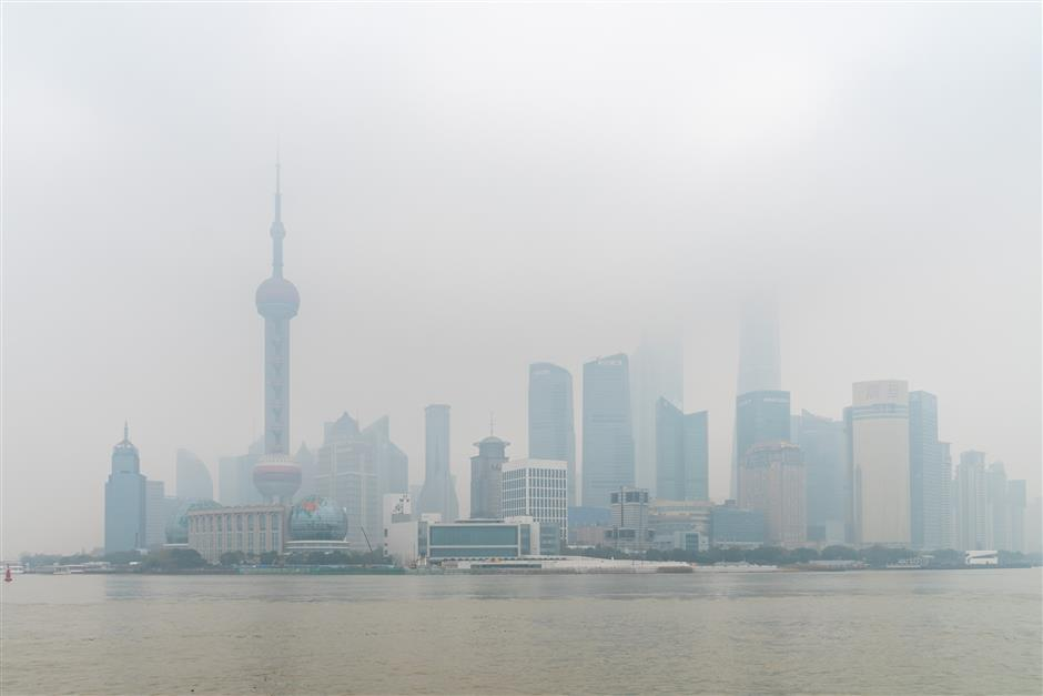 Heavy air pollution plagues parts of city