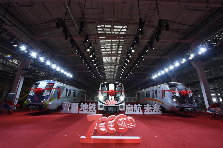 Shanghai adds 7,000th train to Metro fleet