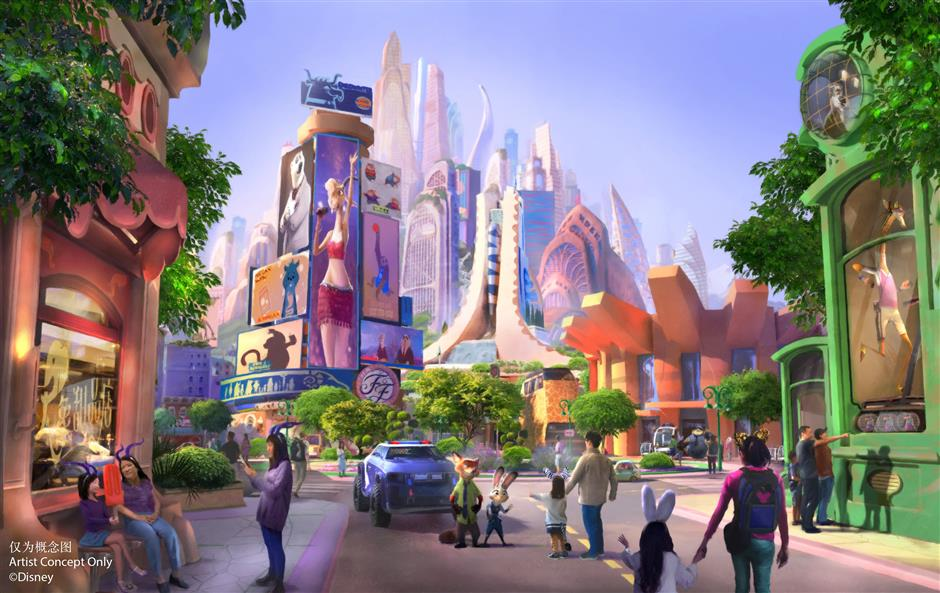 Topping out ceremony for Disneylands Zootopia