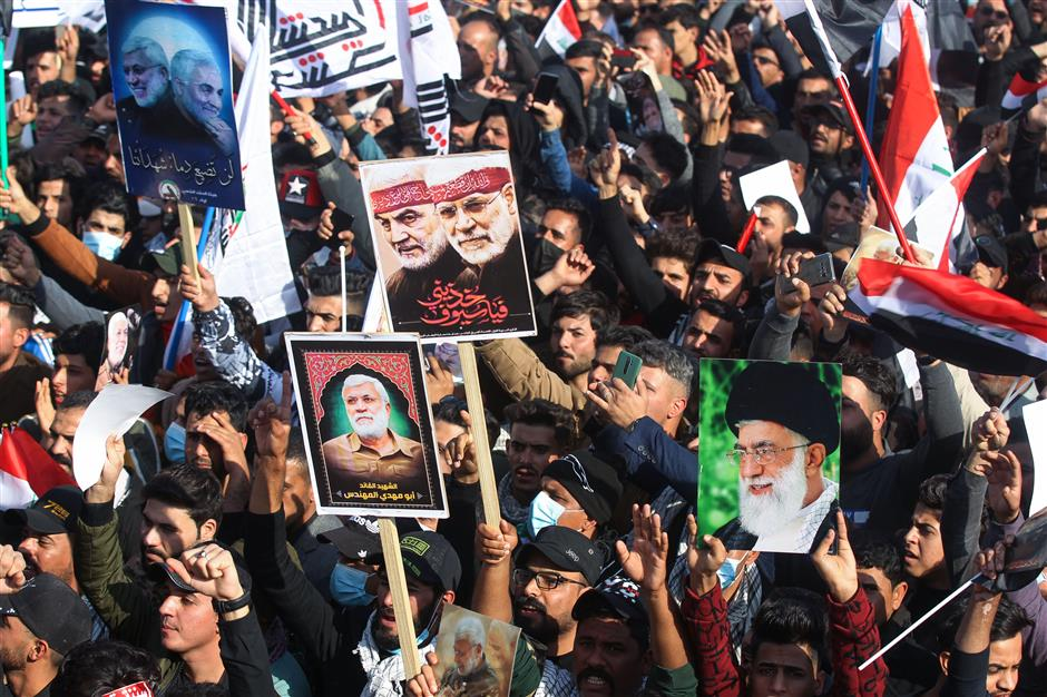 Thousands rally in Baghdad to mourn commanders slain by US