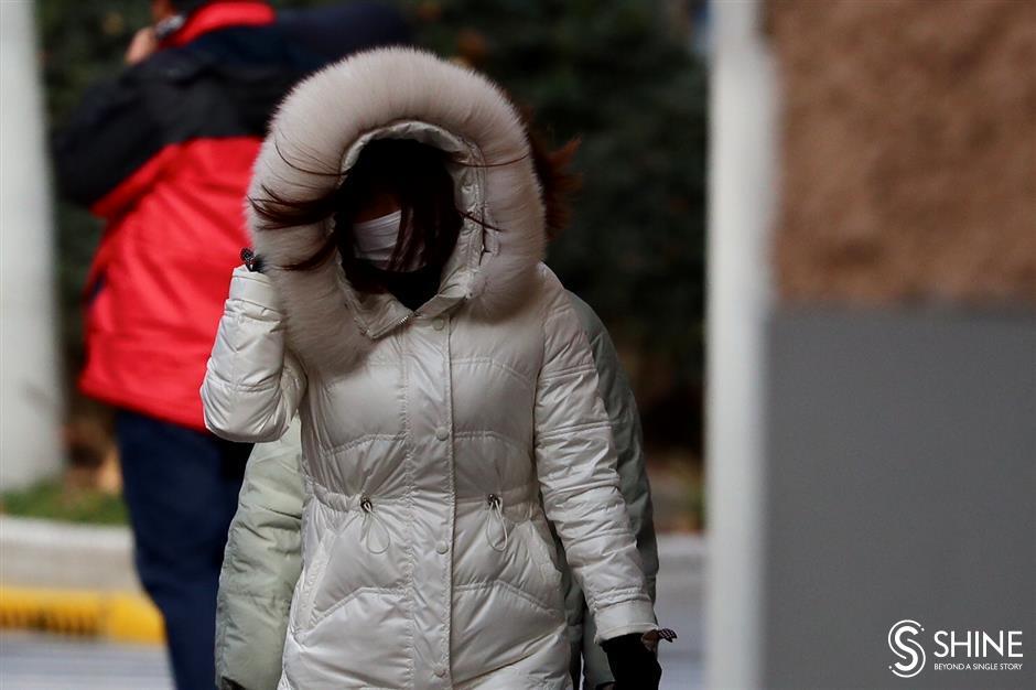 Shanghai raises cold wave alert to orange