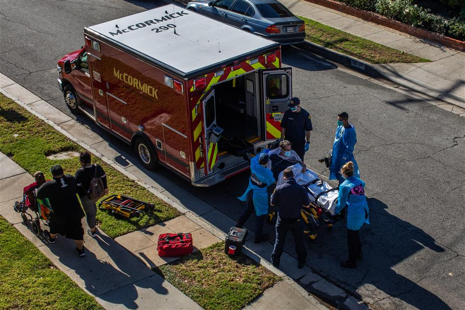 LA ambulances stop transporting some patients due to Covid strain