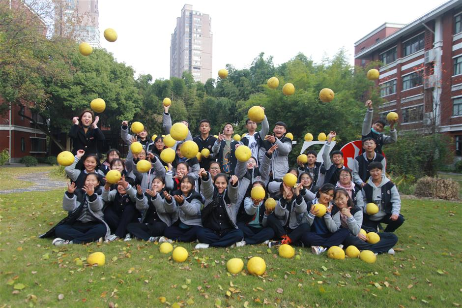 How worry over pomelos changed everything at a Songjiang school