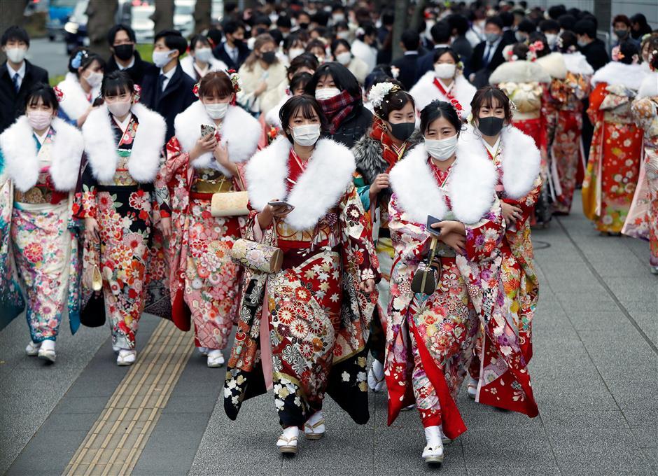 Japan celebrates coming-of-age day despite virus surge