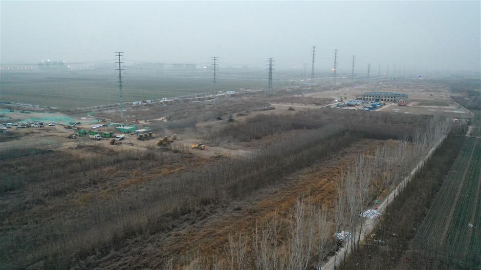 Isolation center under construction in Hebei after COVID-19 outbreak