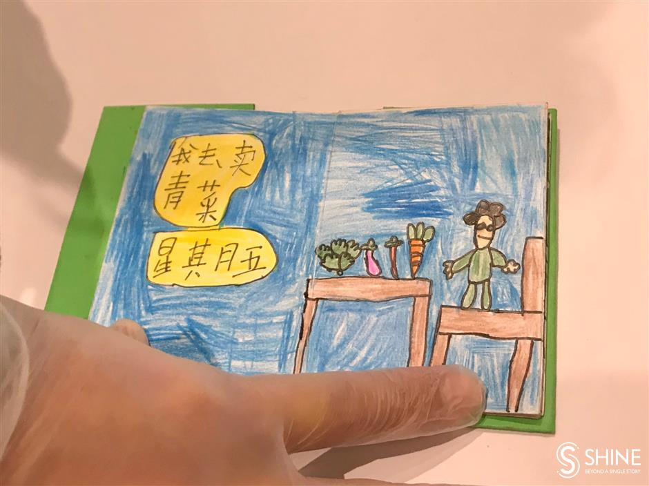 Rural children paint pictures of their lives