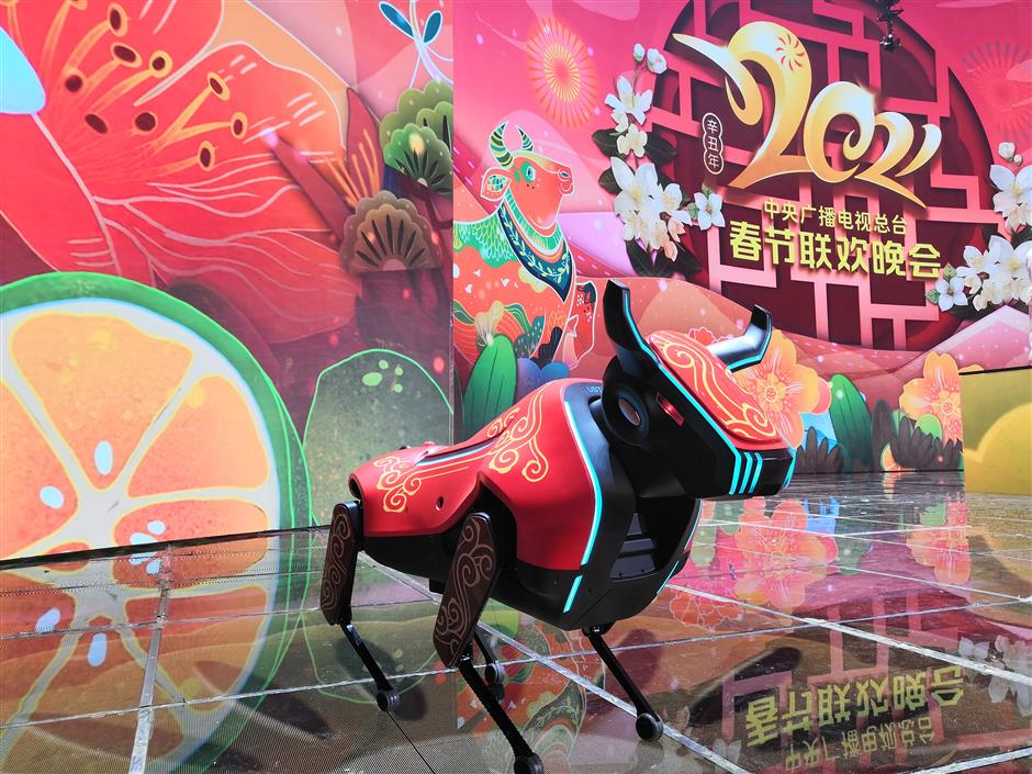 AI robots steal the show during Spring Festival