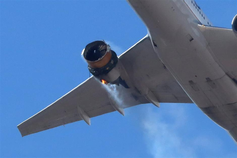 Debris fall from US airline hit by engine failure