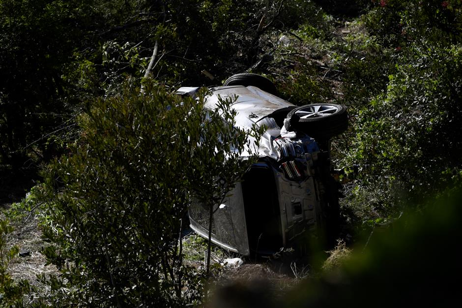 Tiger Woods in surgery after rollover car crash