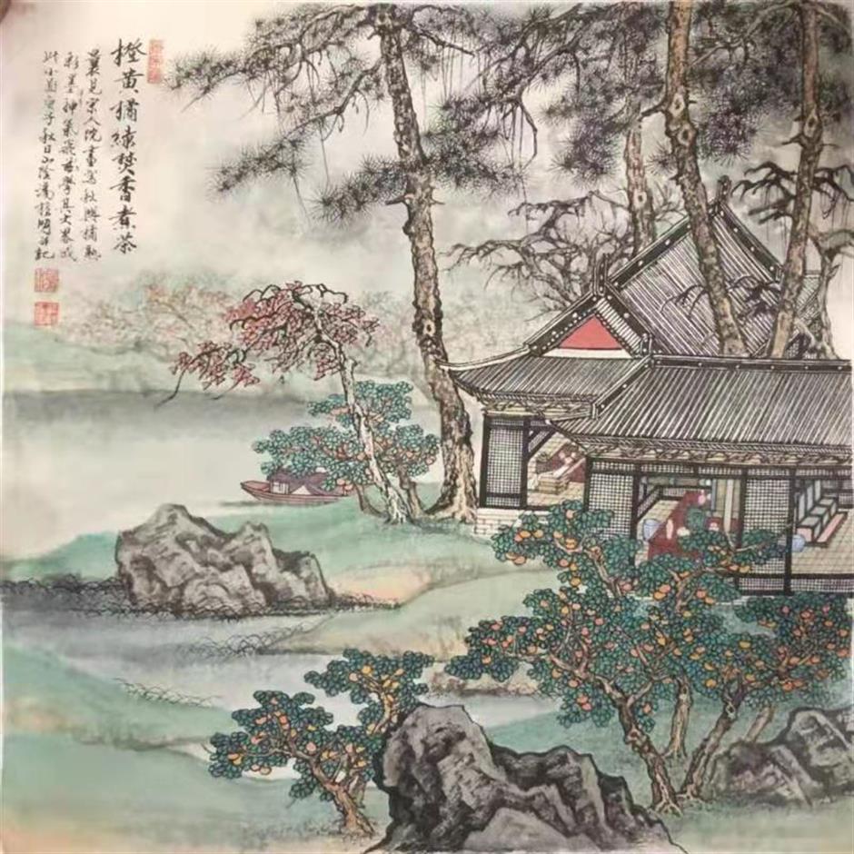 Ink-wash exhibit captures spirit of Shanghai and Beijing