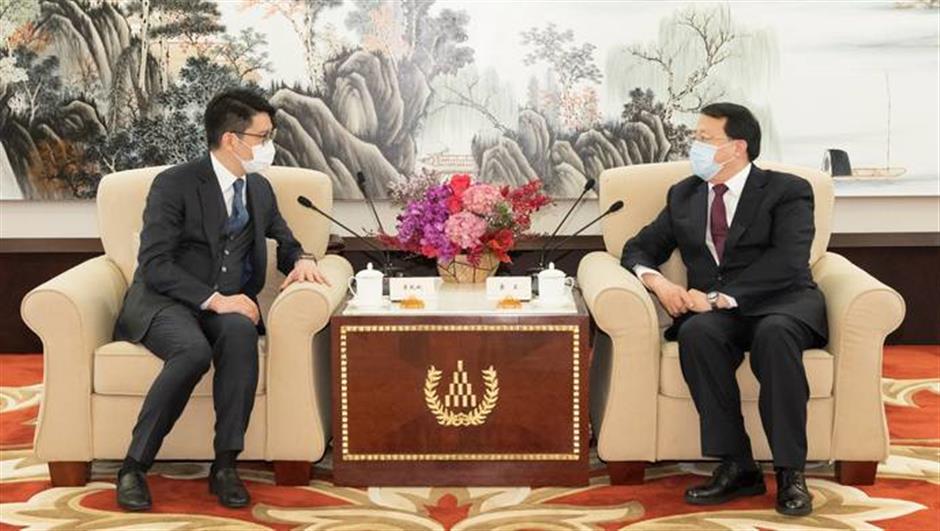 Shanghai Mayor Gong Zheng meets BEA co-CEO