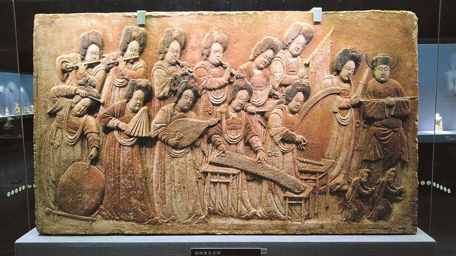 Ancient relief work calls the tune