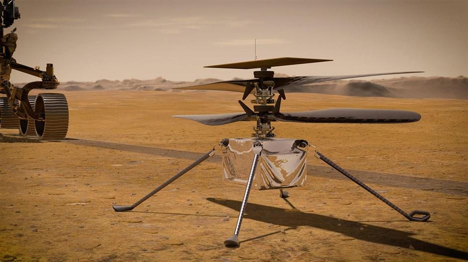 NASA eyes April launch for its helicopter on Mars