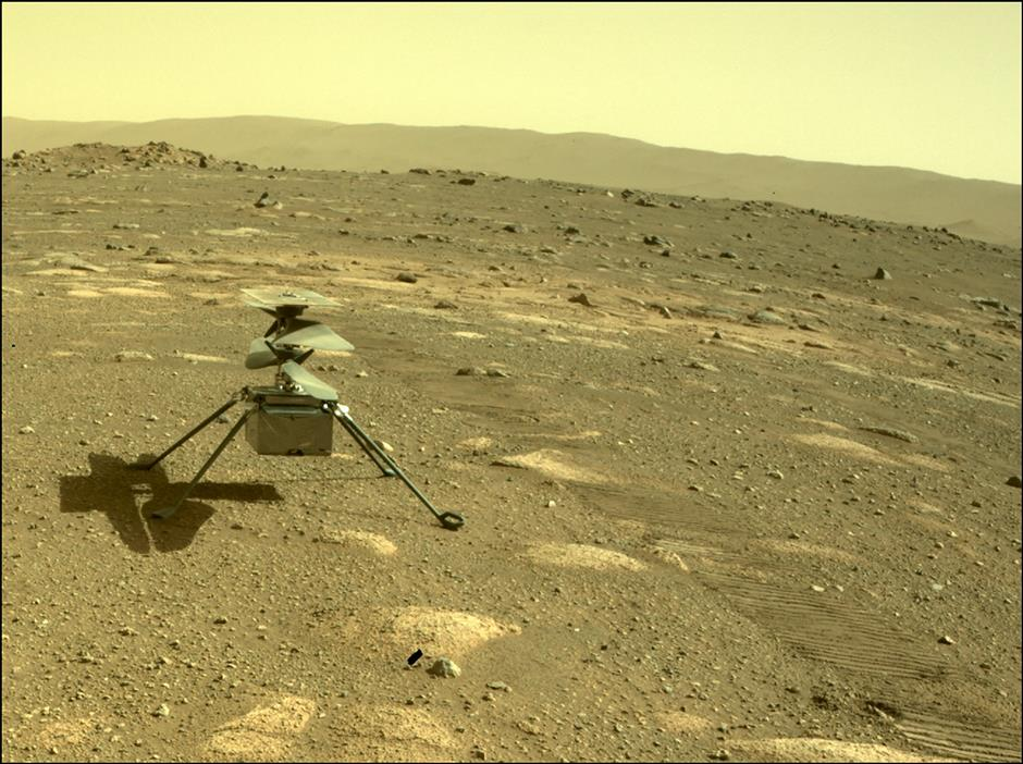 NASA helicopter survives 1st night alone on Mars