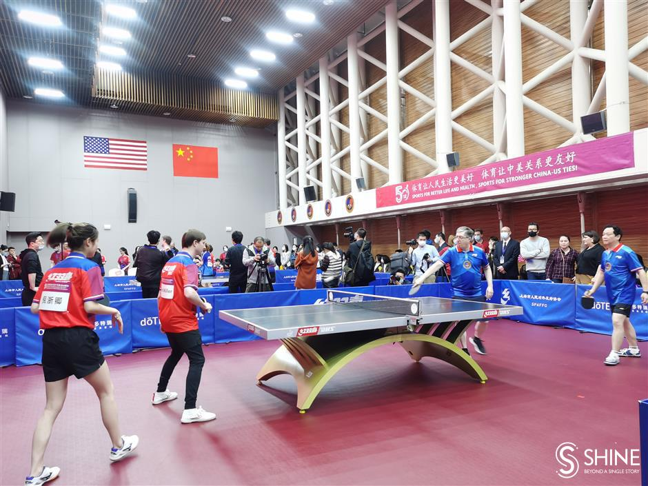 China-US friendly table tennis match celebrates Ping Pong Diplomacy