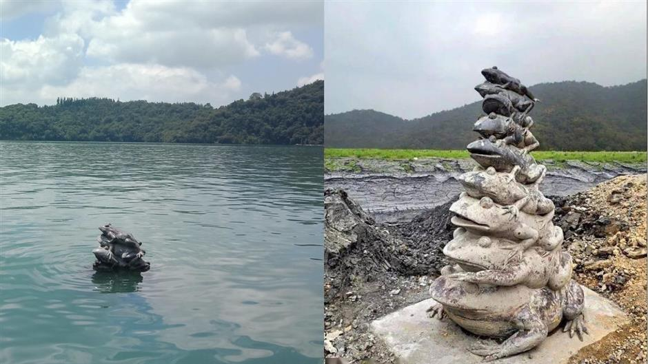 Taiwan faces worst water shortage in 56 years: Sun Moon Lake turns into moonscape